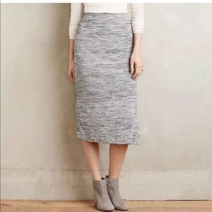 Anthropologie Maeve Knit Midi Skirt